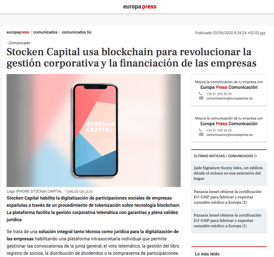 Stocken Capital Europa Press