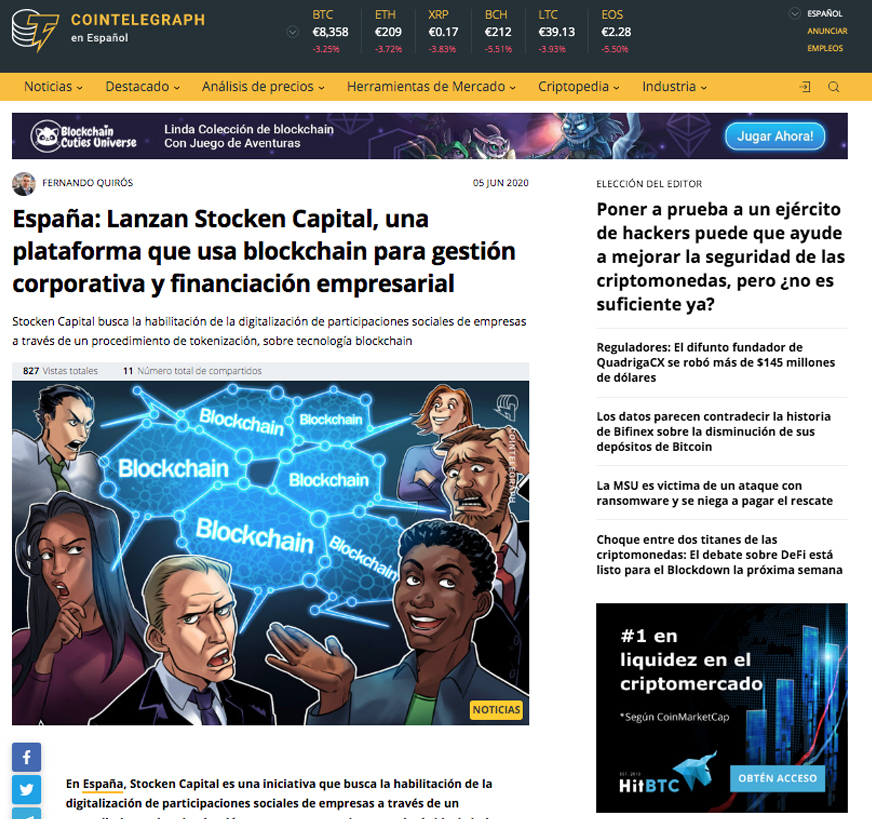 cointelegraph stocken capital