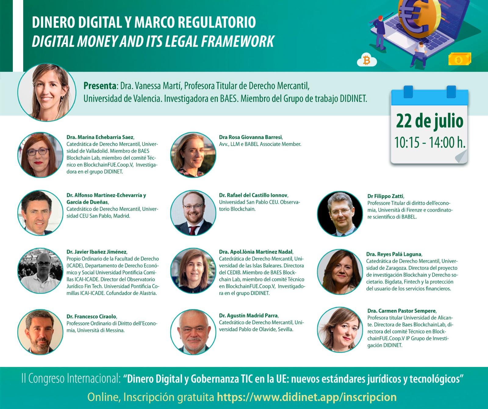 """II Congreso Internacional """"Dinero Digital y Gobernanza TIC la UE: nuevos estándares jurídicos y tecnológicos"""""""